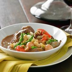 Spring Lamb Stew with Mashed Potatoes