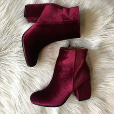 Velvet booties  #swoonboutique