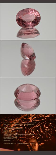Fine Gem. Super Pink Tourmaline from Mozambique!. Oval Cut. 11.90 ct. Excellent Cut and Lively Bright! Loose Pink Tourmaline Gemstones for sale MdMaya Gems