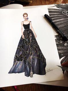 Elie saab #sketch #sketching #draw #drawing #fashion #fashionsketch #fashiondrawing #fashionillustrator #fashionillustration #fashionart #art #artwork #illustrator #illustration