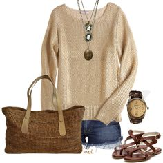 I am in love. Neutral colors, casual look...perfect.