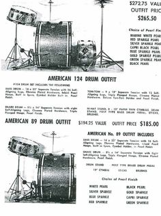 Kent 60s catalog. Courtesy to coopersvintagedrums