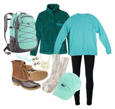 Finals Week Outfit #1. by xipiamin on Polyvore featuring Patagonia, Helmut by Helmut Lang, J.Crew, L.L.Bean, The North Face, Majorica and Southern Tide
