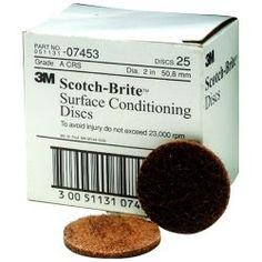 "2"""""""" Scotch Brite Surface Conditioning Discs Coarse Brown"