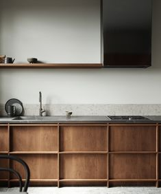 Photo by Wade Muller on behance · · · CGI - Small Nordic Kitchen on Behance Danish Kitchen, Nordic Kitchen, Bedroom Minimalist, Minimalist Kitchen, Minimal Kitchen Design, Interior Design Kitchen, Küchen Design, House Design, Japanese Interior Design
