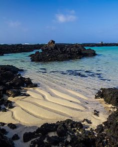 Beautiful shallow beaches of Caleton Blanco just outside Órzola in the north of Lanzarote