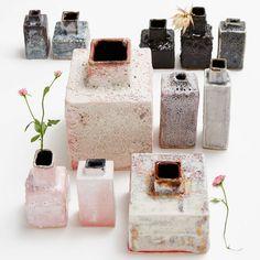 Icy Pink Vases from Ceramist Bjarni Sigurdsson
