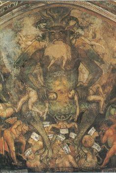 """Inferno"""" by Lucifero Taddeo di Bartolo (1396)"""