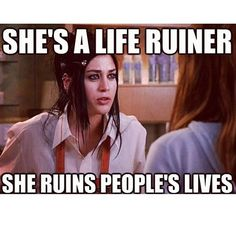 """Mean girls can get temporary success and fame but they don't get far whatever so, and karma is always ready for them around the corner, so remember """"Beware of the Plastic"""" . Mean Girl Quotes Tv Quotes, Movie Quotes, Movie Memes, Truth Quotes, Life Quotes, Best Mean Girls Quotes, Mean Girl 3, Just In Case, Just For You"""