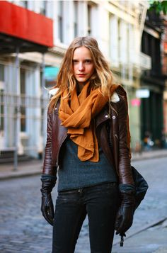 must get myself a leather jacket and more scarfs!
