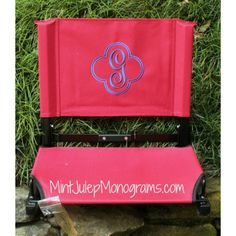 personalized foldable lawn chair stadium chair by