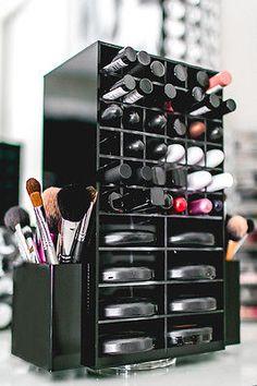 Hilado de acrílico Maquillaje Organizador titular   Cosméticos Labial & compacto en torre