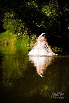 Trash The Dress Wreck Wedding In A River