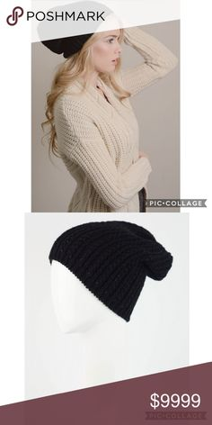 45ed121c11e Long Cable Knit Beanie This is a great winter and fall beanie with a long  cable knit design. Material  Acrylic One Size Fits Most Accessories Hats