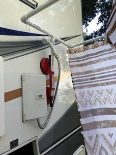 Jay Kamys from Saint Augustine, Florida shares his portable outdoor shower kit modification for his Lance camper. Camping Hacks, Camping Diy, Travel Trailer Camping, Camping Storage, Camping Ideas, Travel Trailer Organization, Camping Kitchen, Camping Cooking, Travel Trailers