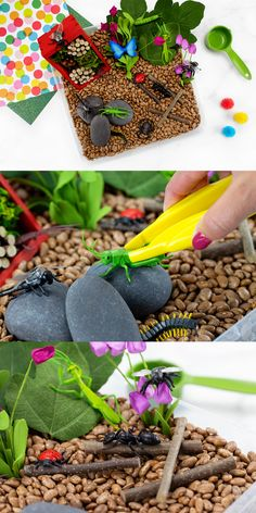 Such a cute and simple bug sensory bin idea for kids! #bugsensorybin #kidsactivities #forkids #sensorybin Sensory Tools, Sensory Bins, Sensory Play, Creative Activities For Kids, Lego Design, Indoor Play, Play Ideas, Mud Pie, Playroom