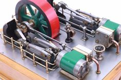 Finely built twin cylinder horizontal mill engine - steam engine  | eBay Small Engine, Steam Engine, Lathe, Golden Age, Steampunk, Engineering, Technology, Models, Building