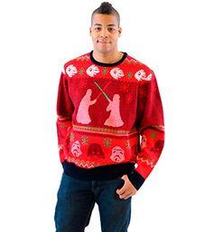 Star Wars Death Star Saber Showdown Adult Red Ugly Christmas Sweater  http://www.fivedollarmarket.com/star-wars-death-star-saber-showdown-adult-red-ugly-christmas-sweater/