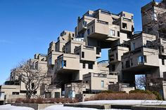 What an awesome concept way before it's time.  It's time is now.  Habitat 67 by Moshie Safdie, Montreal, 1967