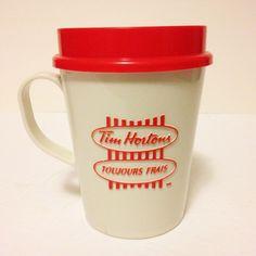 Vintage Tim Hortons White Red Travel Coffee Mug Cup Tim donut limited Changsha, Tim Hortons, Coffee Travel, Mug Cup, Donuts, Coffee Mugs, Tableware, Red, Vintage