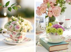 Baby Shower mid Afternoon Tea Menu | Flowers are essential – think tea roses or orchids – as is music.