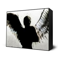 painting, angel, art, wings, alex cherry, heaven, canvas, Heaven, Mini Art Block