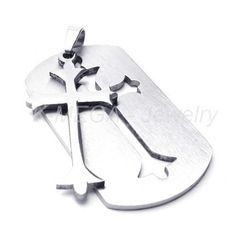 http://cheune.com/store K Mega Jewelry Stainless Steel Cross Dog Tag Mens Pendant Necklace
