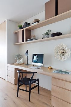 Superb home office inspiration - make sure you visit our report for even more innovations! Home Office Space, Home Office Design, Home Office Decor, Home Study Design, Office Nook, Home Office Table, Study Interior Design, House Design, Study Table Designs