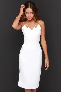105 amazing ideas for a white dress! Simple White Dress, Beautiful White Dresses, Elegant Dresses For Women, Simple Prom Dress, Fabulous Dresses, Summer Dresses For Women, Cheap Prom Dresses, Cheap Wedding Dress, Casual Dresses