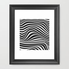 Wave Framed Art Print by Tracie Andrews - $33.00