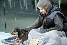 homeless man with his dog - Google Search
