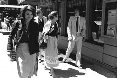 Jacqueline Kennedy Onassis, Caroline Kennedy, and John F Kennedy Jr on the streets of Manhattan circa 1979.
