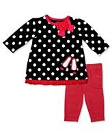 Baby Essentials Set, Baby Girls 2-Piece Dot Shirt with Leggings