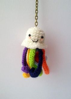 (4) Name: 'Crocheting : Octopus Keychain PATTERN