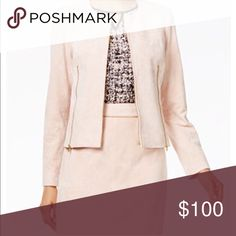 CALVIN KLEIN blush pink jacket and skirt! I have a soft light pink outfit. Brand new and never worn. I accidentally took off the tags. Look golden for fancy events! Or even wear it for official business. Calvin Klein Skirts Midi