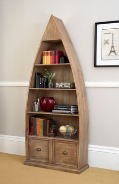Reclaimed pine gives considerable character to the sturdy design of the Bermuda Office Dinghy Bookcase, a rich and rustic piece with a classic grey wash finish. Samana, Dinghy, Grey Wash, Rustic Furniture, Rustic Wood, Home Office, Bookcase, Shelves, Living Room