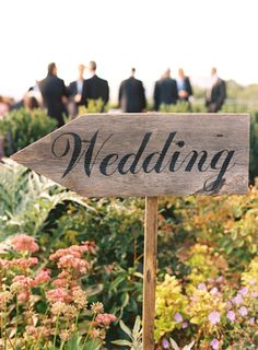 Wedding Direction sign.