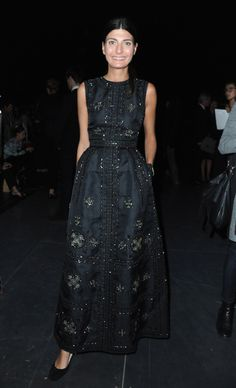 Saint Laurent: Front Row - Paris Fashion Week Womenswear Spring / Summer 2013