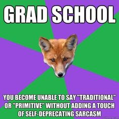 Anthropology Major Fox (forget grad school, anthro undergrad will do this to you at the HC)