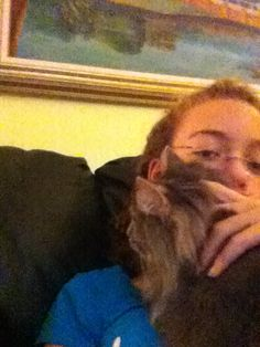 Me and my cat Gretchen