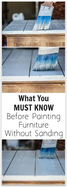 Painting furniture diy without sanding tips Ideas Old Furniture, Refurbished Furniture, Paint Furniture, Repurposed Furniture, Furniture Projects, Furniture Making, Furniture Makeover, Furniture Design, Furniture Refinishing