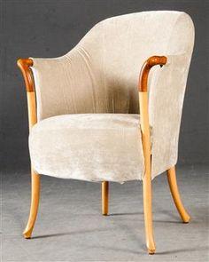 Lænestole - køb og salg af moderne, nyt, antikke og brugte - Umberto Asnago, lænestol model Progetti, fremstillet hos Giorgetti - DE, Hamburg, Große Elbstraße