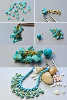 Like the turquoise beads bib necklace?The details will be published by LC.Pandahall.com