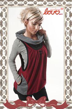 """Rollkragenkleid """"Klärchen..."""" rot von mydearlove® - shop auf DaWanda.com"""