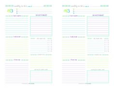Personal Planner - Free Printables   Free printables, The o'jays ...