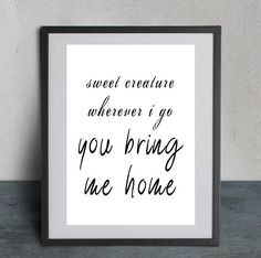 Sweet Creature - Harry Styles Album, Harry Styles Print, Anniversary, Girlfriend Gift, Gift for Her, Gift for Women, Wife Gift, 1D