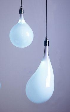 Light bulbs by Dutch designer Pieke Bergmans. Part of her on-going Design Virus series, Light Blubs are hand-blown crystal light bulbs containing LEDs.