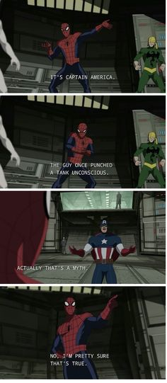 """""""I'm pretty sure it's true."""" ULTIMATE SPIDER-MAN--Superhero Banter. two of my favorite Supers"""