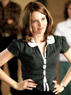 "Workwear: Tina Fey as a teacher in ""Mean Girls,"" 2004"