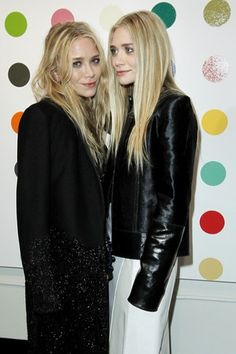 Mary-Kate Olsen Ashley Olsen in The Row celebrating Damien Hirst collaboration #12Nile #hollywood